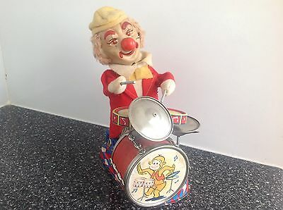 Vintage 1950's TIN LITHO TOY DRUMMER By ALPS from Japan WORKING!
