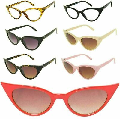 Pointy Cat Eye Sunglasses Fashion Rockabilly Women's Eyewear Pin Up Pointy
