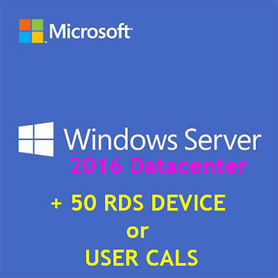 [RETAIL] Windows Server 2016 Datacenter + 50 User OR Device Connections | 5% off