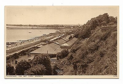 Felixstowe, The Bay From The Gardens Vintage Postcard 144A