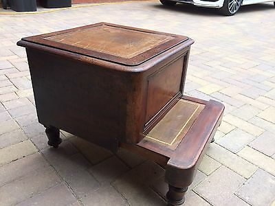 Victorian Mahogany library step or bed step commode