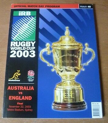 2003 - Australia v England, World Cup Final Match Programme