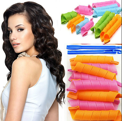 Magic Circle Hair Rollers Curler 18Pcs Mix Size Twist Spiral Styling DIY Tool