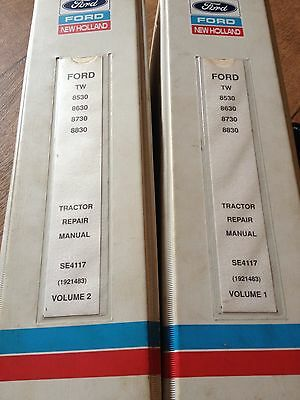 Ford TW 8530 8630 8730 8830 Tractor Service Repair Manual Vol 1&2 Complete