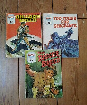 Battle Picture Library 1972-73. 3 Issues. #626. 661. 780
