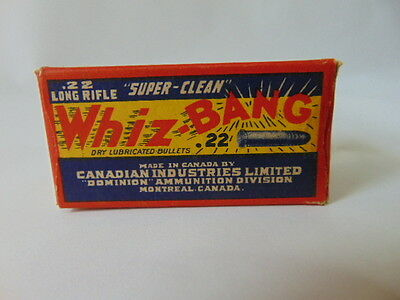 1 Empty Canadian Industries Limited WHIZ BANG 22 Long Rifle Shell Box