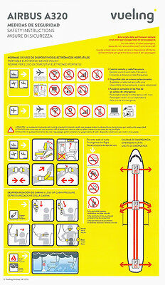 VUELING AIRLINES Airbus A320-200 Safety Card Instructions Version2 2016 Aircraft