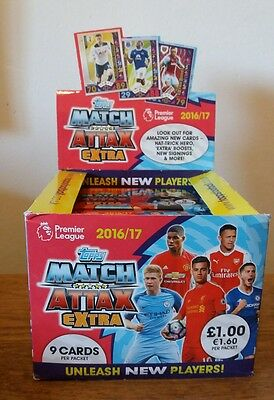 EPL Match Attax Extra 2016/17 Trading Card Game 50 packs *OPEN BOX*