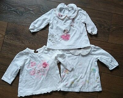 baby girl long sleeved tops 0-3 months