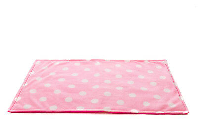 WATERPROOF Guinea Pig, small animal fleece cage liner pink Polka size 80x44cm