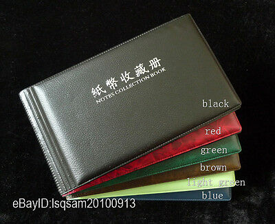 Paper Money Currency Banknotes Holder 20/40 Pockets Album (Green Front Cover)