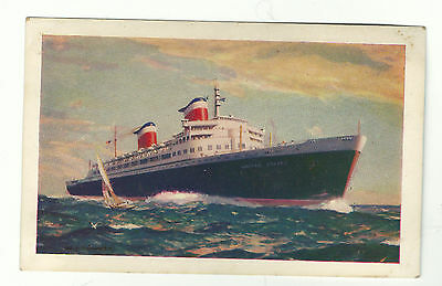 SS United States line SS America Ocean Liner Postcard
