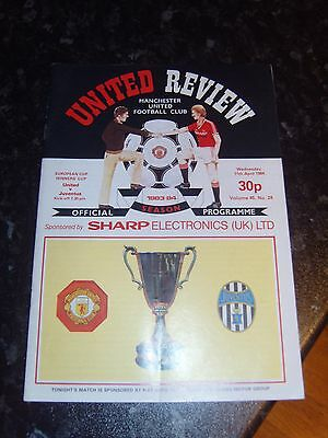 11/04/1984 European Cup Winners Cup Semi-Final: Manchester United v Juventus