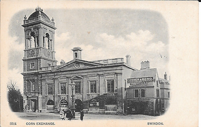 Postcard of the Corn Exchange in Swindon, Wiltshire