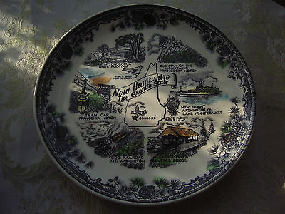 """New Hampshire Collector Plate 9"""" Old Man of the Mountain, Franconia Notch, etc."""