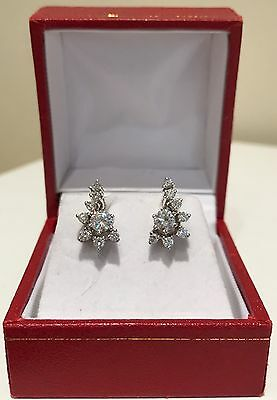 Diamond Cluster Earrings 14k