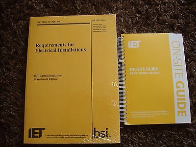 IET Wiring Regulations Seventeenth Edition and On Site Guide NEW