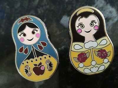 P4 2 x Russian doll Disney Trading Pin - open edition