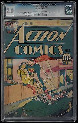 Action Comics 29- CGC 2.0- Superman with 1st Lois Lane Cover!
