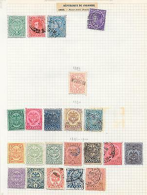 Colombia stamps 1886 Collection of 22 CLASSIC stamps HIGH VALUE!