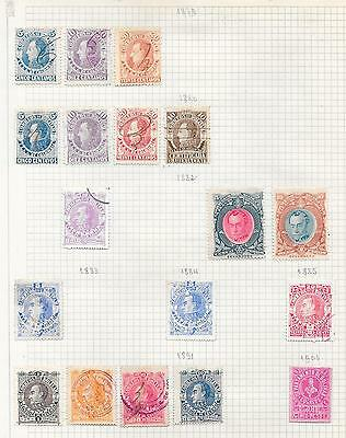 Colombia/Bolivar stamps 1879 Collection of 18 LOCAL stamps HIGH VALUE!