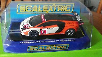 Scalextric Lamborghini Gallardo GT- R Racing Slot Car C3006 1:32 Scale