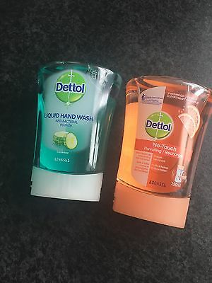 Handwash Refill Dettol No Touch 250ml Anti Bacterial Hand Wash X 2