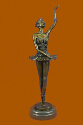 Young Lady Dancer Original Signed Milo Bronze Sculpture Statue Figurine Figure T