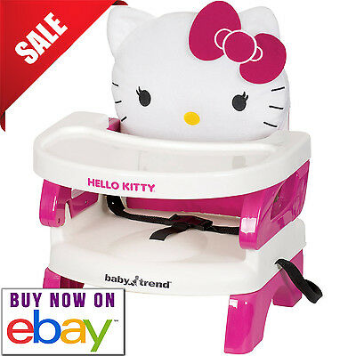 Hello Kitty Baby Trend Easy Seat Toddler Booster Feeding Dining KID Chair Portab