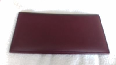 BURGUNDY  Leather Travel Organiser Document Wallet