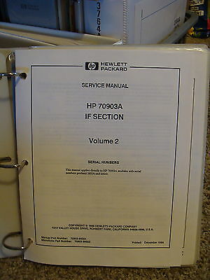 Agilent / HP 70903A IF Section CLIP Manual Volume 2 - Component Level