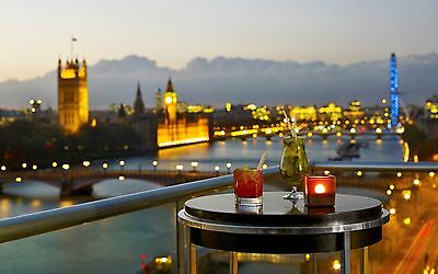 5* Plaza on the river.  London 1st July 2017. room for 2