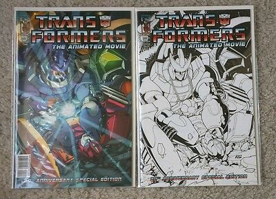The Transformers: The Animated Movie #4 Cover A and B Sketch Variant NM