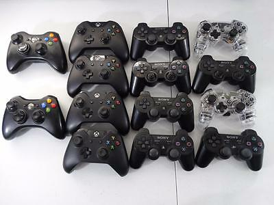 Lot of 15 Xbox 360/Xbox One/Playstation 3 Wireless Controllers - Sold As Is