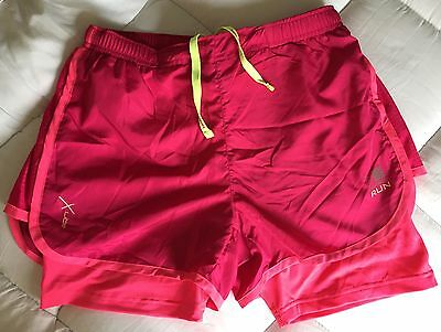Modesty ladies running gym fitness shorts with zip pocket