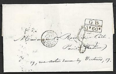 Haiti covers 1862 folded letter Port Au Price to Paris / Postmarks