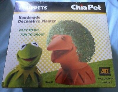 New Disney The Muppets Kermit the Frog Chia Pet Planter - SEALED