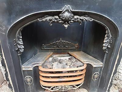 Cast iron Victorian style gas fireplace