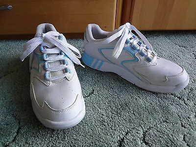 Circle White Leather Comfort Bowling Shoes / Size Uk 5.5 / Eur 39