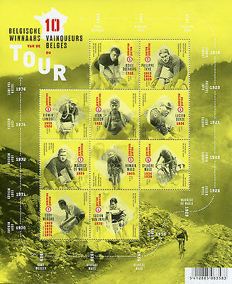 Belgium 2017 MNH Tour de France Winners Eddy Merckx Maes 10v M/S Cycling Stamps
