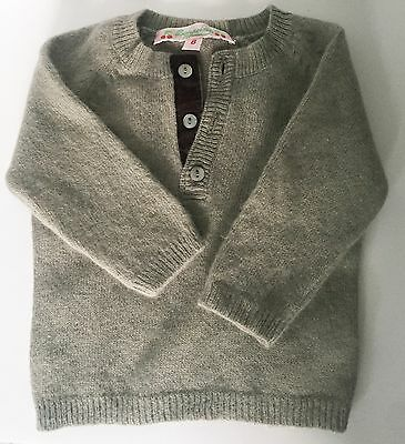 BONPOINT Baby Unisex Lambswool Silk Angora Cashmere Mix Top Jumper 0-2 Months