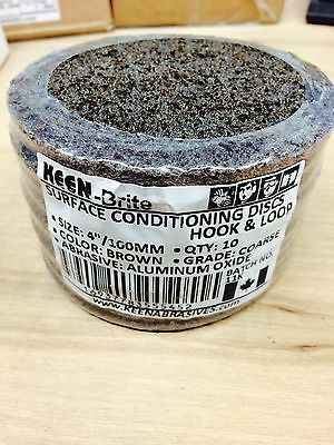 Keen-Brite Surface Conditioning Disc, Coarse Grit, 4 In, 55452 (10/pack)