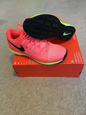 Nike Zoom Vapor 9.5 Tour Men's Tennis Shoes Uk 9 Lava/volt Rare
