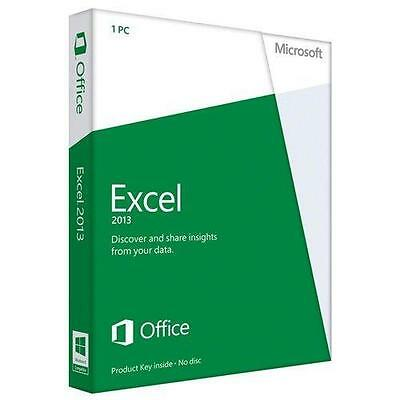 Microsoft Excel 2013 Product Key Card - 06507515