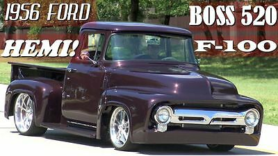 1956 Ford F-100 Custom Truck  1956 Ford F-100 Fired Up Garage Built Famous TV Truck Street Rod Hot Rod / VIDEO