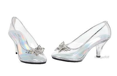 Cinderella Glass Slipper Costume Shoes Princess Disney Clear Fairy Shoe Womens