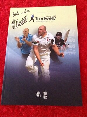 James Tredwell Kent & England Signed Benefit Year Brochure 2017