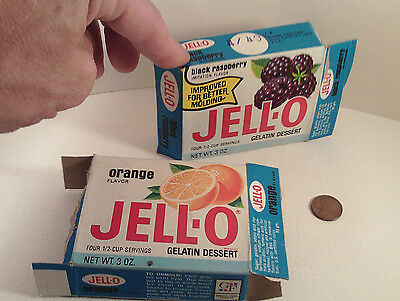 """2 original 1970's-vintage (Paperboard) """"General Foods ~ JELL-O"""" Boxes! ~2-pc.LOT"""