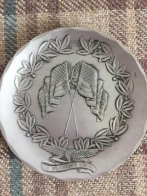 Handmade Wendall August Forge American Flag Dish