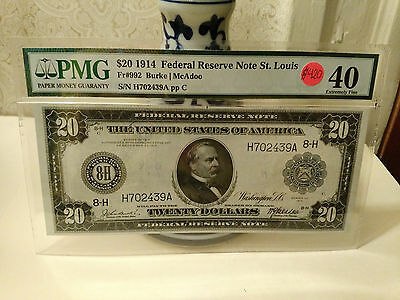 1914 20 federal reserve note-St Louis